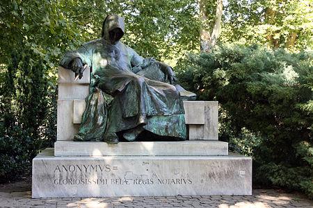 Анонім статуя в Будапешті